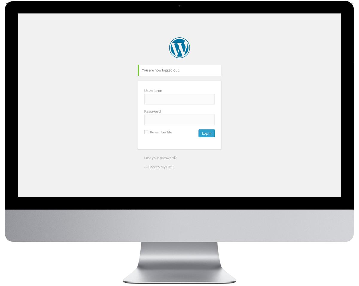 WordPress inlogpagina